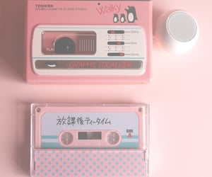 aesthetic, cassette, and pink image
