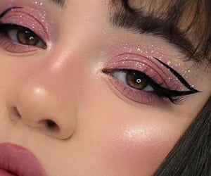 makeup and pink image