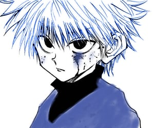 blue, hunter, and hxh image