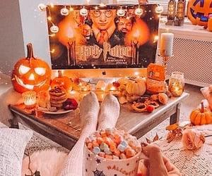 Halloween, autumn, and harry potter image