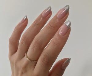nails, silver, and aesthetic image