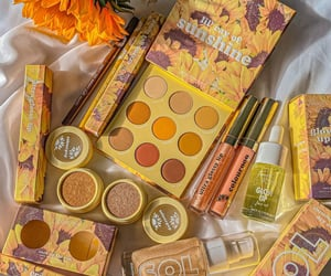 honey, yellow, and makeup image
