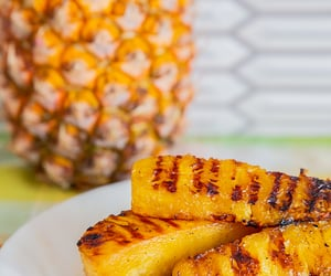 sweet, grilled pineapple, and maple syrup glaze image