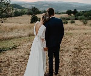 husband, wedding, and wife image