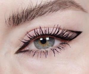 eye, eyeliner, and eyebrowns image