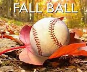 baseball and fall image