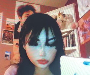emo, girls, and hair image
