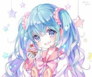 anime, kawaii, and miku image