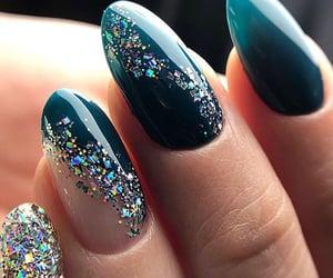 green nails, nail art, and gel nails image