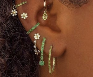 accessoires, earrings, and green image