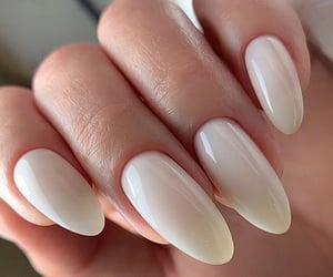 nail art, white nails, and gel nails image