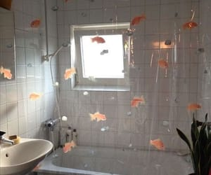 aesthetic, bathroom, and fish image