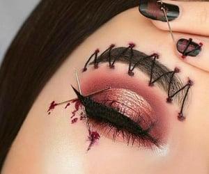 Halloween, makeup, and make up image