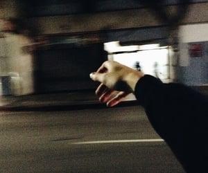 hand, grunge, and night image