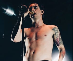 brendon urie, panic! at the disco, and shirtless image