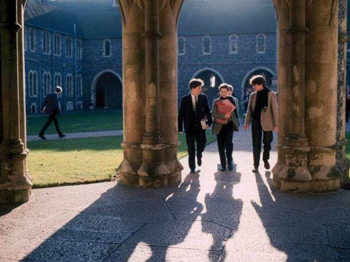 article, fall, and hogwarts image