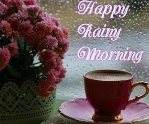 coffee, rain, and cup image