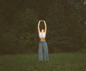 girl, green, and hippie image