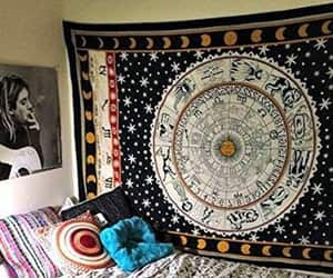 etsy, dorm room decor, and indian tapestry image