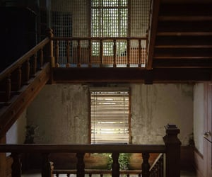 blinds, stairs, and stairwell image