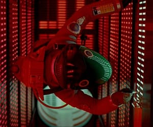 2001 a space odyssey, red, and scene image