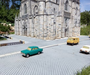cars, maquette, and castle image