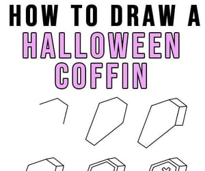 coffin, diy, and Halloween image