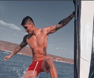 boy, sea, and summer image