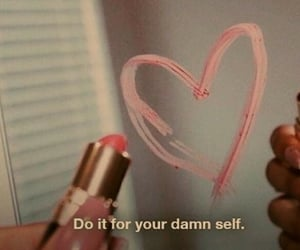 quotes, aesthetic, and lipstick image