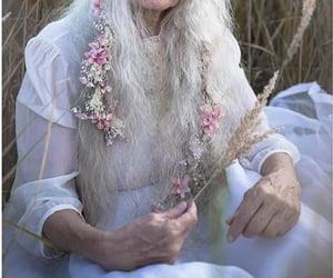 flowers, grandma, and pink image
