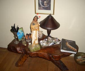 Buddha, the chief, and abalone shells image