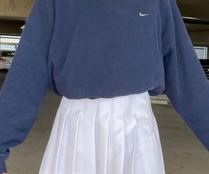 blue, white tennis skirt, and inspo image