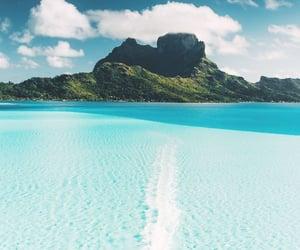 travel, beach, and bora bora image