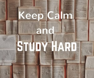 books, exams, and hard image