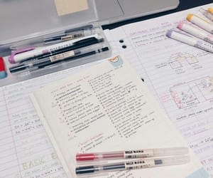 studyblr, notes, and school image