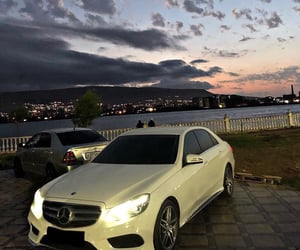 car, закат, and машина image