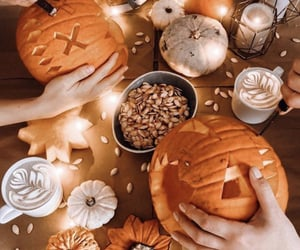 Halloween, pumpkin, and aesthetic image