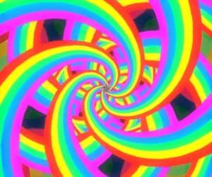 artwork, digital art, and rainbow image