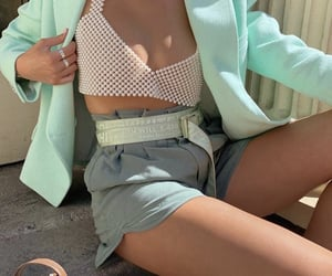 everyday look, green shorts, and fashionista fashionable image