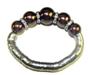 chunky, metallic, and chunky bracelet image