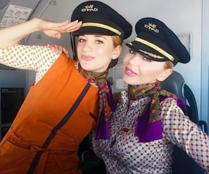 abu dhabi, air hostess, and cockpit image