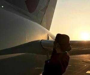 air hostess, airport, and Lufthansa image