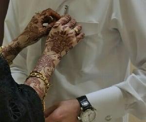 bangles, girl, and henna image