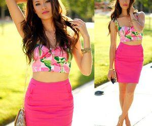 bustier, skirt, and cute image