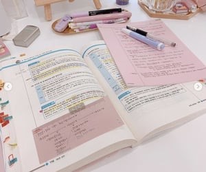 korean, pink, and student image