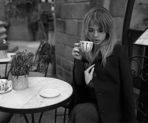 black and white, cafe, and europe image