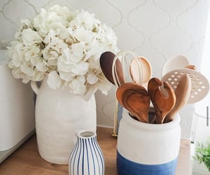 design, kitchen, and flowers image