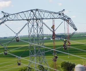 electricity, powerline, and engineer image