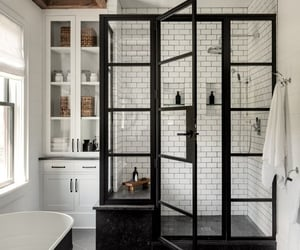 bathroom, black, and aesthetics image