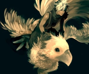 cloud, final fantasy VII, and chocobo image